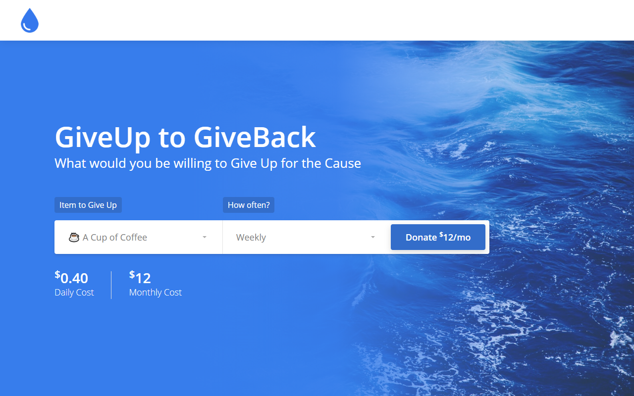 GiveUp to GiveBack